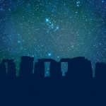 The ancient site of Stonehenge against a backdrop of stars copyright Belsebuub.com