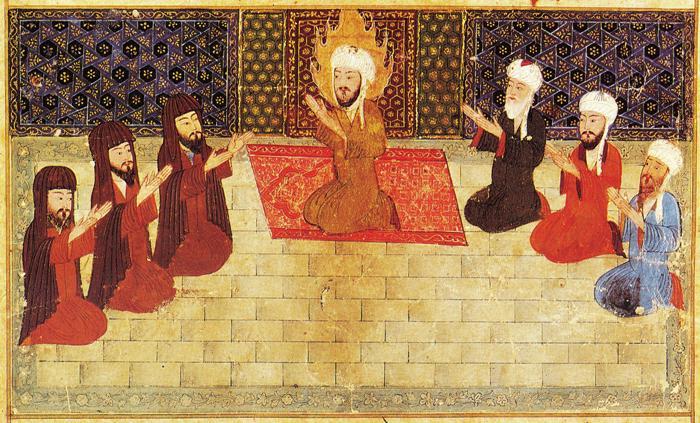 Eastern guru disciple scene