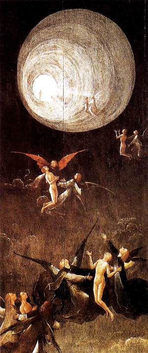 Ascent of the Blessed by Hieronymus Bosch (1490)