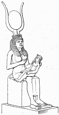 Isis/Hathor nursing Horus