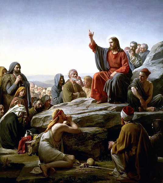 Jesus teaching at the Sermon on the Mount