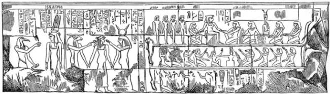 Nativity scene at Luxor Temple in Egypt