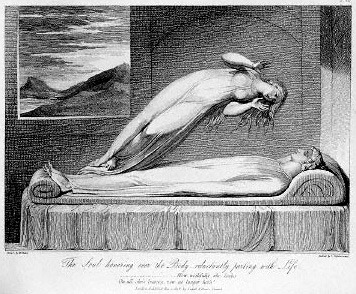 Soul Leaving the Body by Schiavonetti 1808
