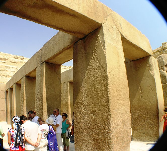 The Valley Temple located beside the Great Sphinx of Egypt