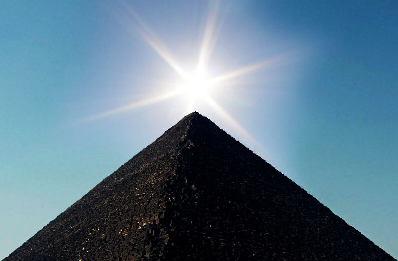 Sun Over Pyramid - copyright Nina Aldin Thune 2005