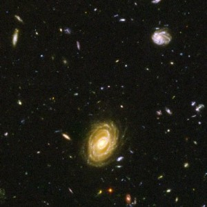 photograph of so many galaxies that they look like stars