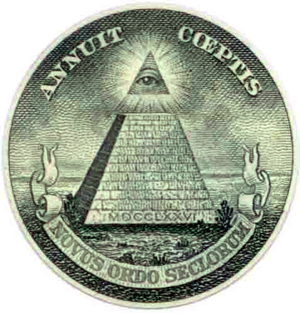 Illuminati symbol on the US dollar bill, right under everyone's noses