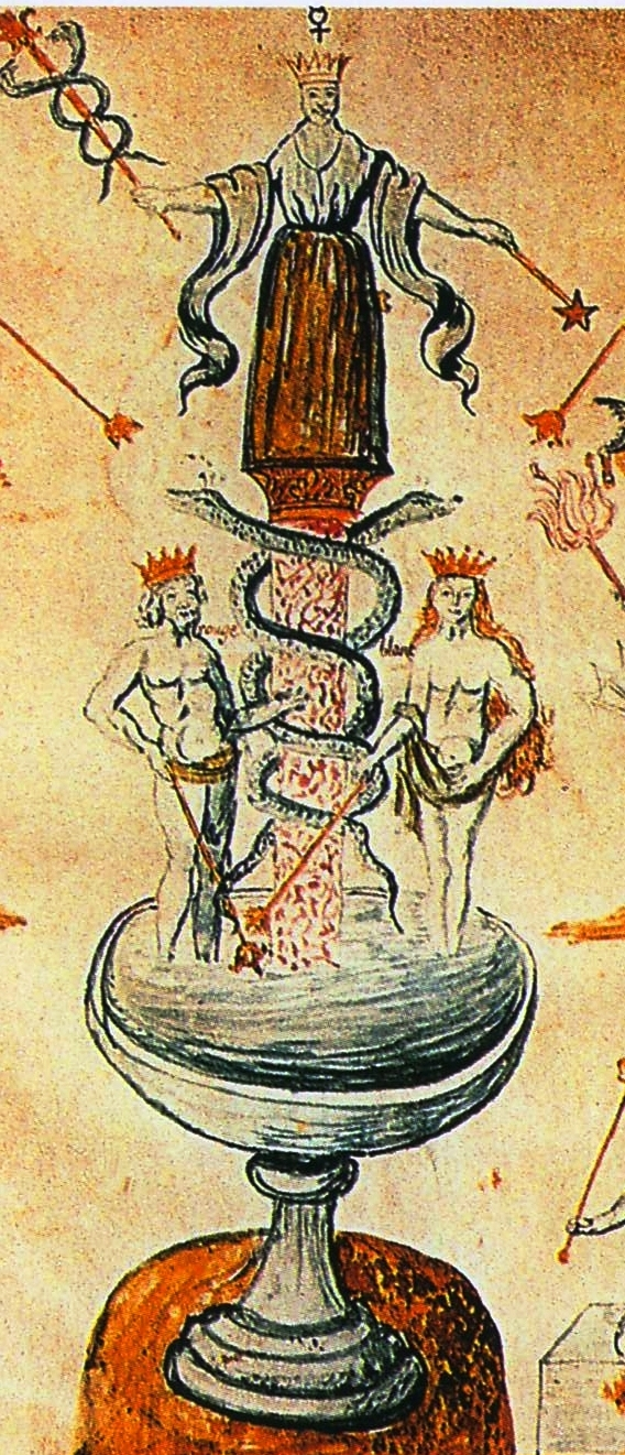 Man and woman creating from their union in alchemy