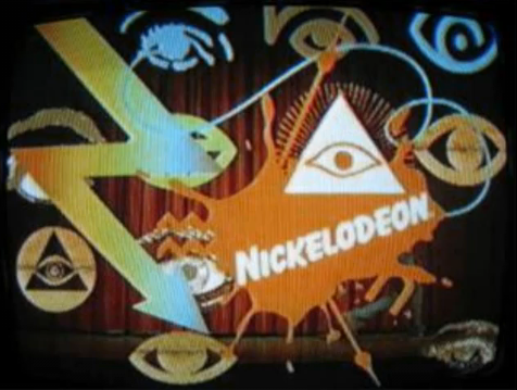 The children's cartoon network Nickelodeon with obvious illuminati symbolism