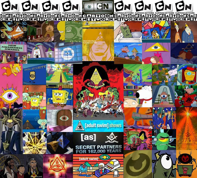 Illuminati symbolism in children's cartoons - note the pyramids and all-seeing eyes