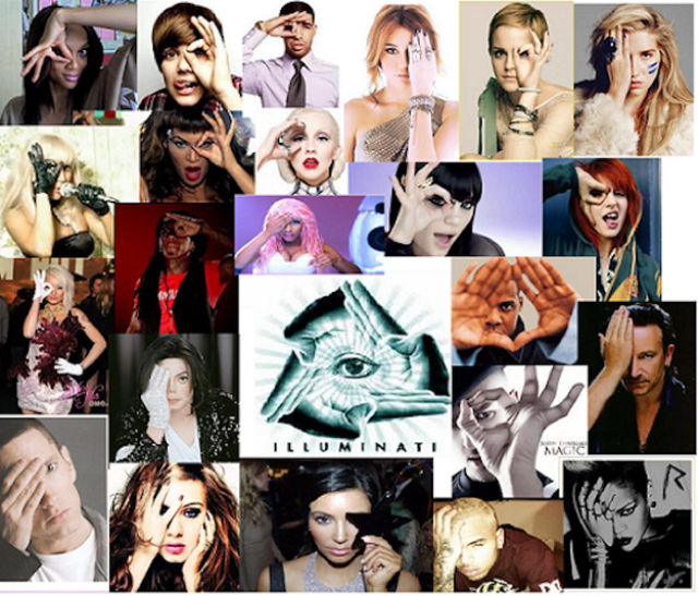 Vast numbers of celebrities have now been photographed covering one eye, creating the one-eye symbol of the illuminati
