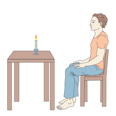 Concentration on a candle