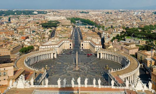 View of Rome from Vatican City - photo by David Iliff