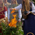 A Romuvan ceremony in Lithuania. (photo copyright Flickr user Mantas LT 2009)