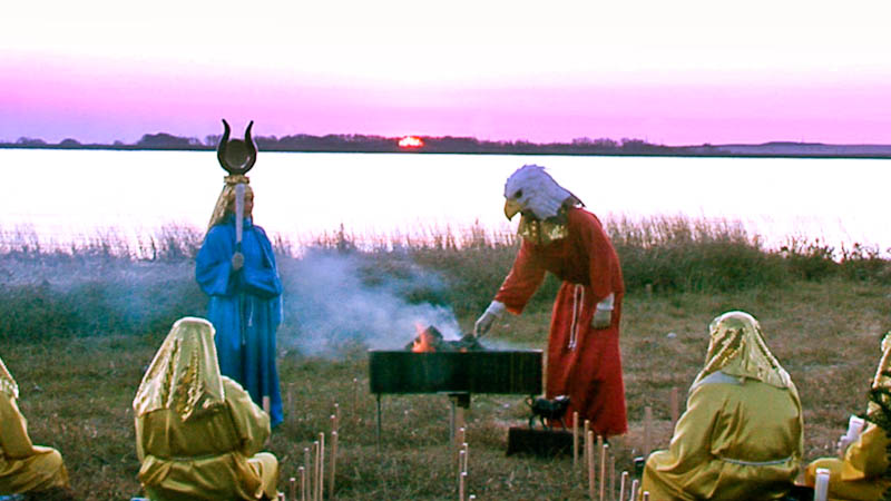 Winter solstice ceremony in California