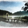 woman standing on lake pier in astral_resize