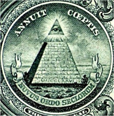 The Great Seal on the United States dollar bill. The monetary system brought in along with this has created a debt with it that is enslaving the world.