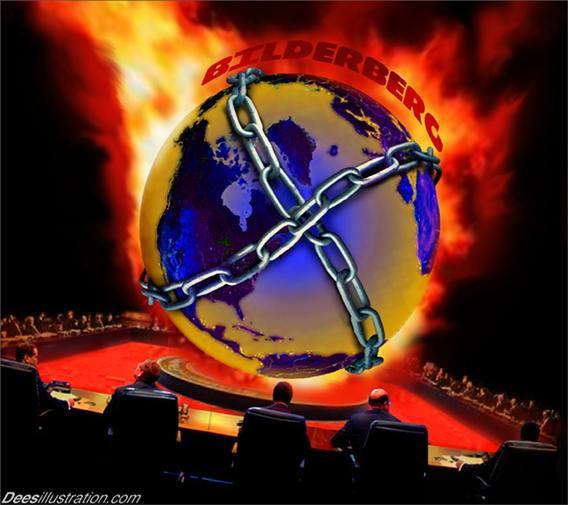 The Bilderberg Group is an ultra-secretive annual gathering of elite global powerbrokers. Source: deesillustrations.com