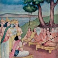The Shanti Parva (book 12 of the Mahabharata) is set after the ending of a great war. In this time of peace, the new king Yudishtira receives counsel from sages on proper governance, justice, and a wise way of life.