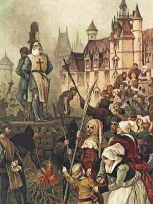 Knights Templar_burning of Molay