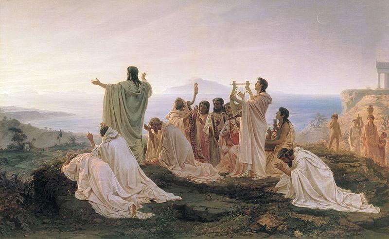 Bronnikov_gimnpifagoreizev - Pythagoreans celebrating the rising sun