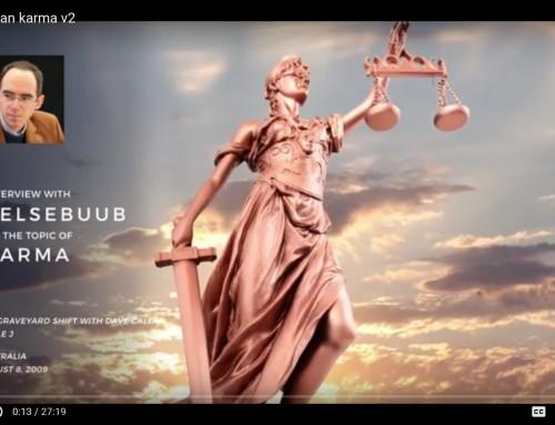 Karma – it is a reward or a punishment? Belsebuub on Triple J Radio